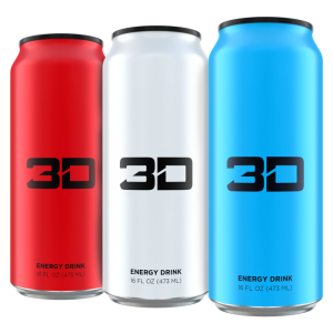 3D Energy Drinks 3D 473ml Energy Drink mit 200mg! Koffein, Dose