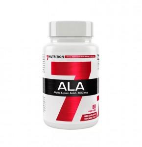 7Nutrition ALA 60 Caps, Alpha-Liponsäure 600mg, höchste Dosierung!