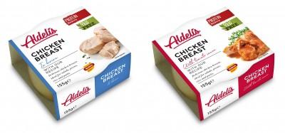 Aldelis Chicken breast 155g, fertiges Hähnchen zum sofort verzehren!