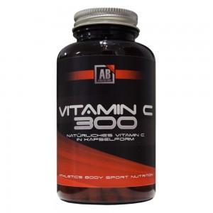 Athletic Body natürliches Vitamin C 300, 180 Kapseln, Acerola, Camu Camu, Hagebutte!