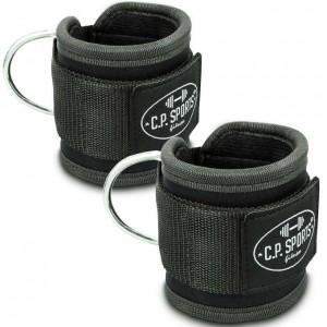 C.P. Sports Premium Fußschlaufe, 1 Paar Schwarz