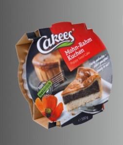 Cakees Mohn-Rahm Kuchen 500g, fertig zum sofort Essen
