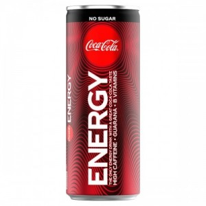 Coca Cola Energy 250ml No Sugar, Energy Drink Zero Sugar, inkl. Pfand