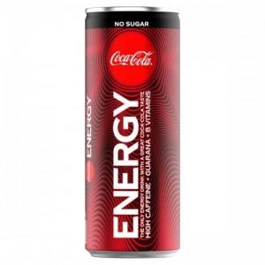 Coca Cola Energy 250ml No Sugar, Energy Drink Zero Sugar, inkl. Pfand