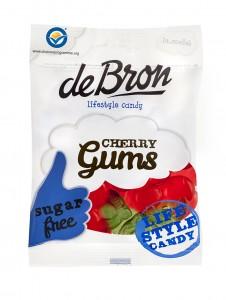 De Bron Cherry Gums 90g, zuckerfrei Kirschgummis