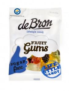 De Bron Fruit Gums 100g, zuckerfreie Fruchtgummis