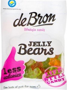 De Bron Jelly Bears 90g, zuckerfreie Gummibärchen