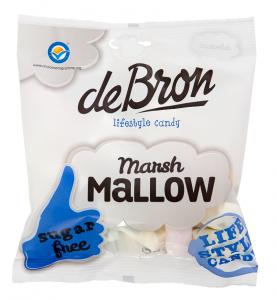 De Bron Marsh Mallow 75g, zuckerfreie Marshmallows (Mäusespeck)