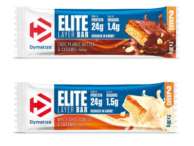 Dymatize Elite Layer Bar 2x30 g Riegel, 40% Protein!