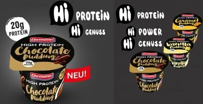 Ehrmann High Protein Pudding 8x 200g! Becher Tray, Alle Sorten! 20g Protein! laktosefrei