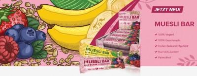 IronMaxx Müsli Bar 30g, veganer low sugar Riegel