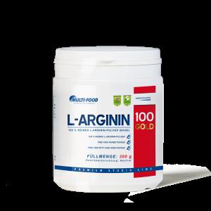 MULTI-FOOD L-Arginin 100% rein, Dose 300g Pulver, basisch