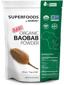MRM BIO Organic Baobab Pulver 240g, Superfood! Sonderposten!