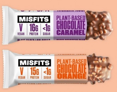 MisFits Plant-Based vegan Protein Bar 45g Riegel, 100% natural, glutenfrei