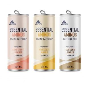 Multipower Essential Aminos 330ml, mit 6,5g EAA's und Koffein! MHD 04/21!