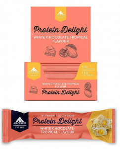 Multipower Protein Delight 18x35g Riegel White Tropical MHD 11/2021!