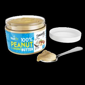 NutVit 100% Peanut + Coconut Butter 500g, Erdnuss & Kokos