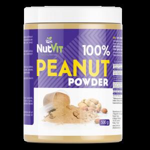 NutVit 100% Peanut Powder 500g, Erdnusspulver ohne Zusätze