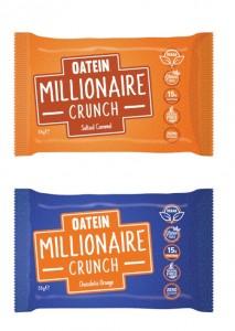 Oatein Millionaire Crunch 58g veganer Proteinriegel mit mega Crunch-Crisp Schicht!