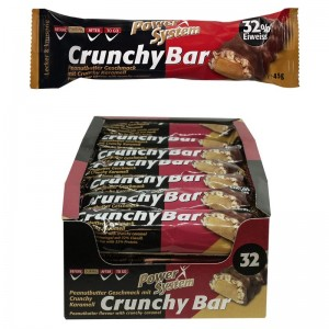 Power System Crunchy Bar 45g Riegel, 32% Protein