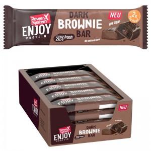 Power System Enjoy Protein Dark Brownie Bar 60g Riegel, flüssiger Kern