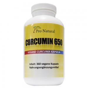 Pro Natural Curcumin 650mg! 360 VEGANE Kapseln