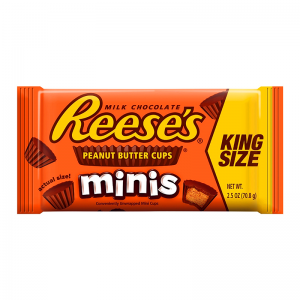 Reese's Milk Chocolate Reese's Peanut Butter Cups Minis 70g, King Size
