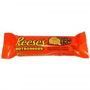 Reese's Nutrageous Bar 47g, Peanuts, Peanut Butter & Caramel!