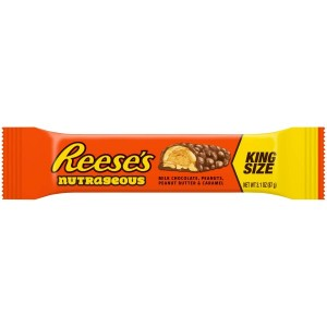 Reese's Nutrageous King Size Bar 87g, Peanuts, Peanut Butter & Caramel!