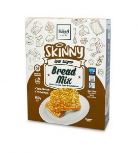 Skinny Food low Sugar Bread Mix 150g glutenfreie Brötchenteigmischung, high Protein