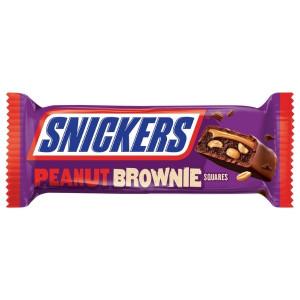 Snickers Dark Brownie Squares 34 g, 2x 17g Minibrownies