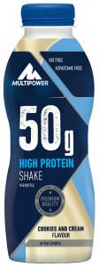 Sonderposten Multipower 50g High Protein Shake 500ml low Carb! Cookies & Cream! statt 2,99€!