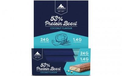 Sonderposten! Multipower 53% Protein Boost 20x45g Riegel Kiste, Coconut MHD 11/21!