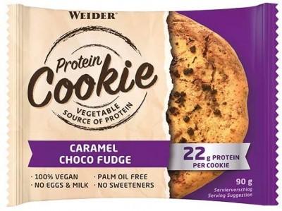 Sonderposten Weider Protein Cookie 90g Keks, vegan Caramel Choco Fudge MHD 04/21!