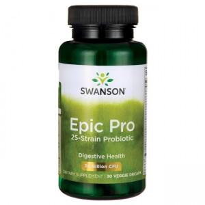 Swanson Epic Pro 30 Veggi Caps, 25 Pro Biotica!, 30 Milliarden CFU