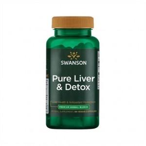 Swanson Pure Liver & Detox 60 Caps vegan, Marindiestel, Brokkoli, Artischocke