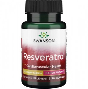 Swanson Resveratrol 30 Kapseln, 250mg Staudenknöterich-extrakt