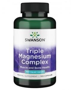 Swanson Triple Magnesium Complex 100 Kapseln, 400mg