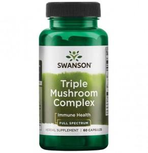 Swanson Triple Mushroom Complex 60 Kapseln, volles Spektrum der Pilze