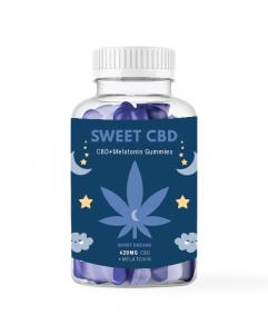 Sweet CBD Sweet Dreams Hemp Gummies 160g, CBD + Melatonin Gummi-Drops Blueberry