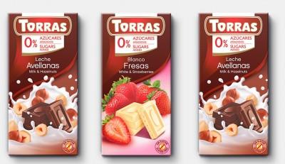 Torras Schokolade OHNE Zuckerzusatz! 75g Tafel