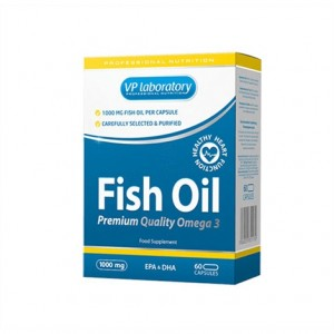 VPLabs Fish Oil 60 Kapseln, Fischöl Omega 3