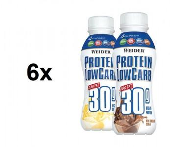 Weider Protein LowCarb 30g Shake 6x330ml!, zero fat! SONDERPOSTEN