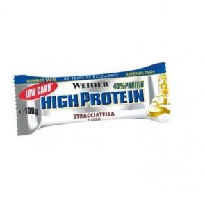 Weider Low Carb High Protein Bar 40% Riegel 100g Sonderposten! Stracciatella  MHD: 30.04.2020!