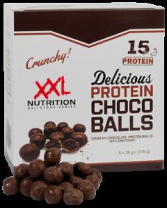 XXL Nutrition Delicious Protein Choco Balls 5x 35g(175g), crunchy, 42% Protein!