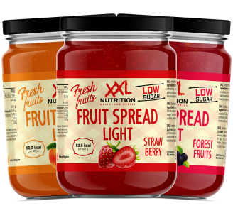 XXL Nutrition Fruit Spread light 235g, Low Carb Fruchtaufstrich, Marmelade