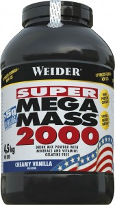 Weider Mega Mass 2000 4500g Pulver Strawberry MHD 09/2019!