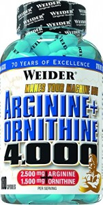 Weider Arginine + Ornithine 4000 Dose 180 Kapseln