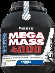 Weider Mega Mass 4000 3000g Dose Pulver, NEUE BESSERE REZEPTUR NUR 10% ZUCKER!