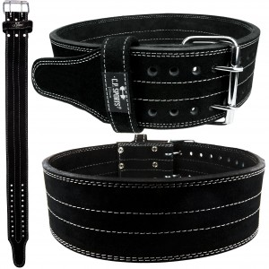 C.P. Sports Powerlifting-Gürtel Leder schwarz M - XL